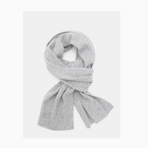 NWT Theory Cashmere Oversized Scarf in Marled Grey